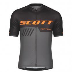 Maillot manches courtes SCOTT RC Team 10 noir décor gris et orange
