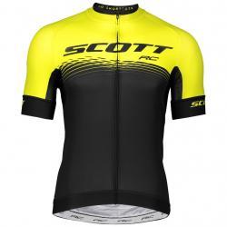 Maillot manches courtes SCOTT RC Pro jaune fluo décor noir