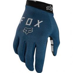 Gants longs FOX vtt Ranger Gel bleu pétrole décor gris