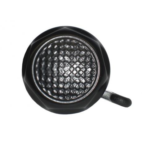 Sonnette REICH métal Martelée noire diamètre 55mm