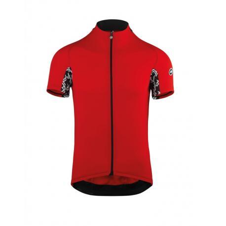 Maillot manches courtes ASSOS Mille GT rouge décor noir