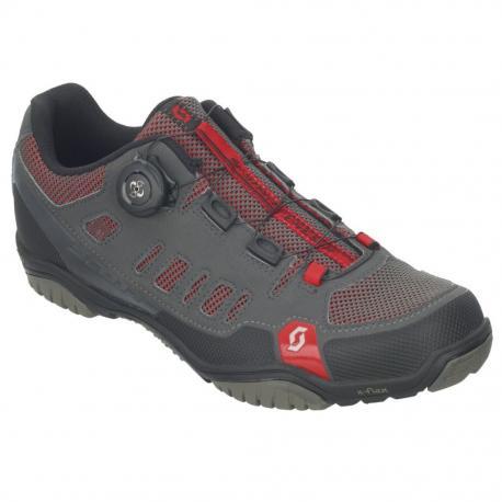 Chaussures SCOTT vtt Crus-R Boa gris anthracite décor rouge