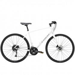 Vélo route fitness 700 alu - TREK 2021 FX 3 Disc - Blanc Décor gris