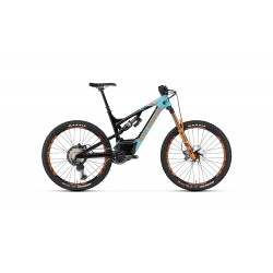 Vélo électrique vtt 27.5p ROCKYMOUNTAIN carbon Altitude Powerplay Carbon 90 672 Rally Edition turquoise et noir décor