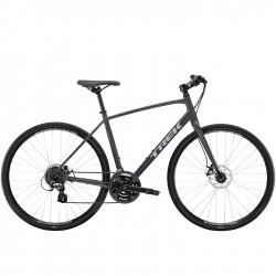 Vélo route fitness alu - TREK 2021 FX 1 Disc - Gris anthracite Solid Décor gris