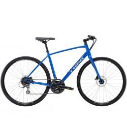 Vélo route fitness alu - TREK 2021 FX 2 Disc - Bleu Alpine décor argent