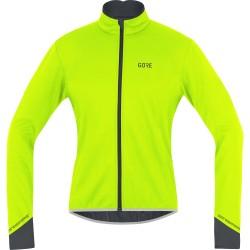 Veste thermique GORE hiver C5 Windstopper jaune fluo décor noir