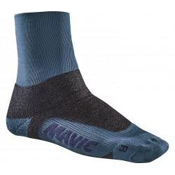 Chaussettes MAVIC hiver Essential Thermo + Lyons bleu pétrole décor noir