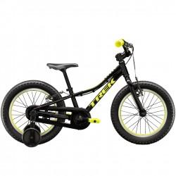 Vélo VTT garçon 3 à 6 ans 16p alu - TREK 2021 Precaliber 16 Boys - Noir Décor jaune