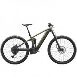 Vélo électrique VTT 29p alu - TREK 2021 Rail 5 SX 500 - Vert olive mat Décor gris et noir
