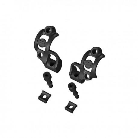 Demi-colliers support MAGURA alu noir Shiftmix pour manettes de dérailleur Sram sur fixation maitre-cylindre - 22gr - ppc