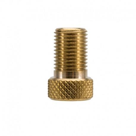 Convertisseur CAFFELATEX de valve Presta (petite valve) en valve Schraeder (grosse valve)