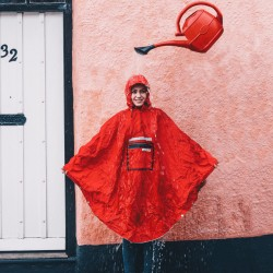 Poncho impermèable THEPEOPLE'SPONCHO polyester RainCare rouge Hardy Red