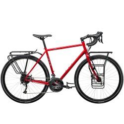 Vélo voyage 28p acier - TREK 2021 520 Disc - Rouge Diablo Décor blanc