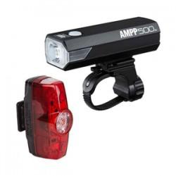 Eclairage avant et arrière CATEYE usb AMPP 500 + Rapid Mini noir