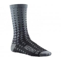 Chaussettes MAVIC Ksyrium Merino Graphique gris décor noir
