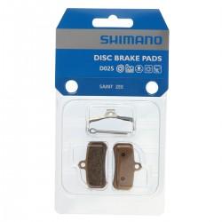 Plaquettes de frein SHIMANO support acier D02S avec ventilation