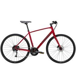 Vélo route fitness 700 alu - TREK 2021 FX 3 Disc - Rouge Rage Décor noir mat