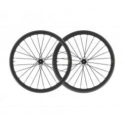 Roues à pneu 700 MAVIC route Ksyrium Elite UST Disc CL ID360 SH Graphite Black noire décor gris