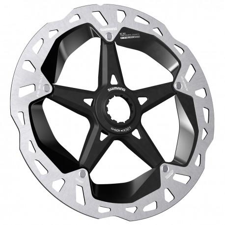 Disque de frein SHIMANO étoile alu vtt MT 900 CL argent décor noir