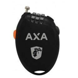 Antivol cable de poche AXA cable Roll 75 à numéros noir décor gris