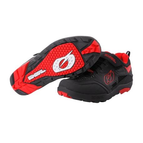 Chaussures ONEAL vtt Traverse Flat noir décor rouge
