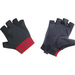 Gants courts - GORE C7 - noir décor rouge et gris