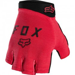 Gants courts FOX vtt Ranger Gel rouge clair décor noir