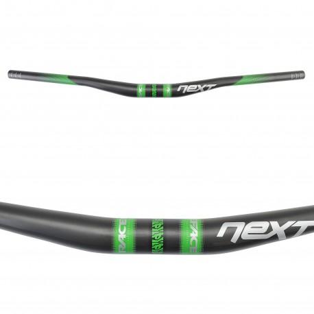 Cintre RACEFACE carbon vtt relevé Next 31.8 noir décor vert et argent