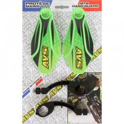 Protège mains AVS Déco vert kawa décor noir et jaune