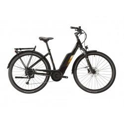 Vélo électrique urbain 28p LAPIERRE 2021 alu Overvolt Urban 6.5 500 noir décor crême et marron