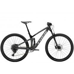 Vélo VTT 29p alu - TREK 2021 Top Fuel 7 SX - Gris Lithium Décor noir et argent
