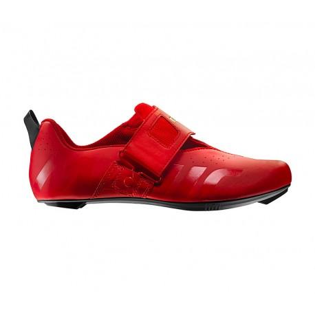 Chaussures MAVIC triathlon Cosmic Elite Tri rouge mat décor verni