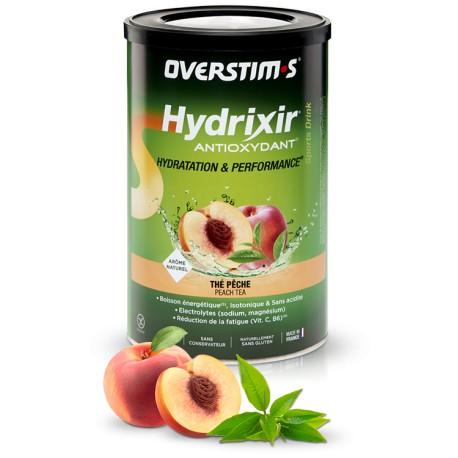 Boisson de l'effort - OVERSTIM'S Hydrixir Antioxydant - Thé-Pêche - sans acidité - Pot 600g.