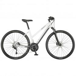 Vélo VTC femme 28p alu - SCOTT 2021 Sub Cross 20 Lady - Blanc décor noir