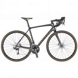 Vélo course 700 carbone - SCOTT 2021 Addict 10 Disc - Noir carbone pailleté décor champagne