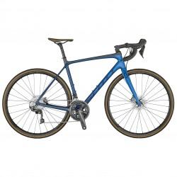 Vélo course 700 carbone - SCOTT 2021 Addict 10 Disc - Bleu décor bleu marine