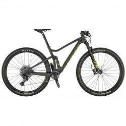Vélo VTT 29p carbone - SCOTT 2021 Spark RC 900 Comp - Gris foncé décor jaune fluo et noir