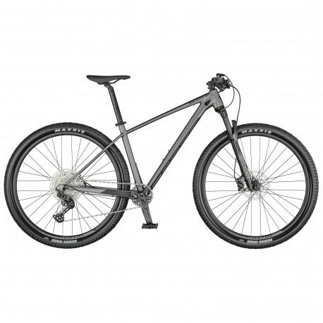 Vélo VTT 29p alu - SCOTT 2021 Scale 965 - Gris argent décor gris anthracite