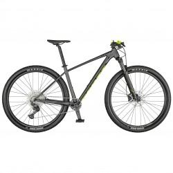 Vélo VTT 29p alu - SCOTT 2022 Scale 980 - Gris anthracite décor jaune fluo et noir