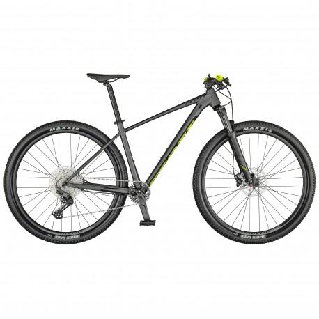 Vélo VTT 29p alu - SCOTT 2021 Scale 980 - Gris anthracite décor jaune fluo et noir