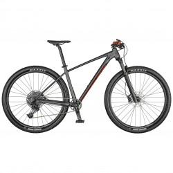 Vélo VTT 29p alu - SCOTT 2022 Scale 970 - Gris anthracite décor rouge et noir