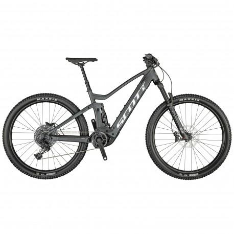 Vélo électrique VTT 29p - SCOTT 2021 alu Strike eRide 930 625 - Noir pailleté décor gris argent