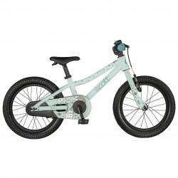 Vélo VTT fille 3 à 6 ans 16p alu - SCOTT 2021 Contessa 16 - Vert d'eau pastel décor dessins multicolores