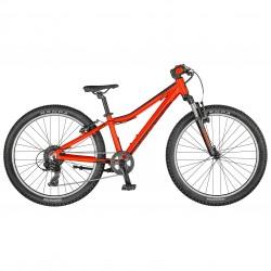 Vélo VTT garçon 9 à 12 ans 24p alu - SCOTT 2021 Scale 24 - Rouge décor noir