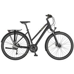 Vélo urbain femme 28p alu - SCOTT 2021 Sub Sport 20 Lady - Gris anthracite mat décor doré
