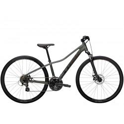 Vélo VTC femme 28p alu - TREK 2021 Dual Sport 1 WSD - Gris Lithium Décor noir