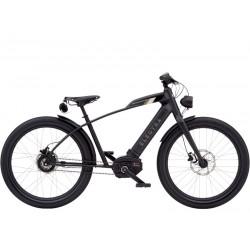 Vélo électrique ville et chemin 26p ELECTRA 2021 Café Moto Go! 500 noir décor beige et kaki