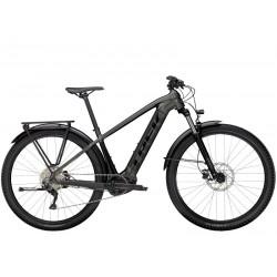 Vélo électrique VTT 29p TREK 2021 alu Powerfly Sport 4 Equipped 500 gris anthracite décor noir