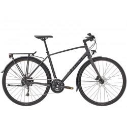 Vélo route 700 alu TREK 2021 fitness FX 3 Equipped Disc anthracite décor noir